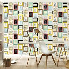 RASCH PICTURE PHOTO FRAME PATTERN COLOURFUL TYPOGRAPHY WALLPAPER