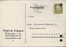 PLAUEN i. V., Postkarte 1932, Hans Haas