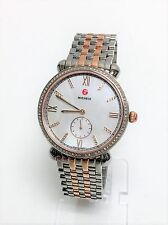 NEW MICHELE GRACILE ROSE GOLD+SILVER 2 TONE,MOP,DIAMONDS WATCH MWW26A000005