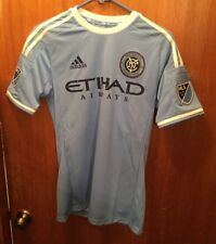 New MLS New York City FC Adidas Authentic Light Blue Primary Jersey Adult Small