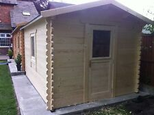 Log Cabin 3 wall extension 4 by 3 meters, add to the side of a cabin or house.
