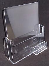 A4 Leaflet Dispenser / Brochure Holder with Business Card Holder PDSC230BCH
