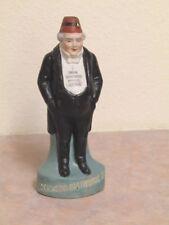 1850'S EDGEWOOD WHISKEY FATMAN Miniature Size Backbar Piece 6 Inchs Tall RARE