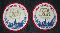 """TWO Chicago White Sox 1933-1983 50th Anniversary All Star Game 3.5"""" MLB Patches"""