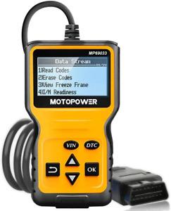 MOTOPOWER MP69033 Car OBD2 Scanner Code Reader Engine Fault Code Reader Scanner