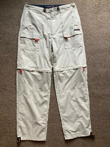 """NUTSHELL Beige Cargo Utility Convertible Trousers Or Shorts 2 In 1 Pants L 32"""""""