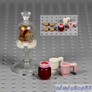 LEGO - Cookie Jar & Coffee Mugs Lot Dessert Food Kitchen Town Friends Minifigure
