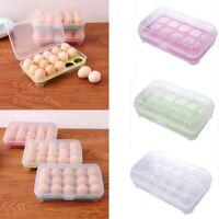 8/15 Eggs Storage Box Case Plastic Collecting Egg Fridge Food Holder Accessories