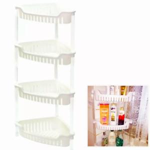 New plastic shower caddy corner bathroom shelf