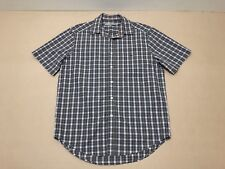 RM Williams Shirt Men ~ Large ~ Great Cond Short Sleeves Plaid Business Polo Top