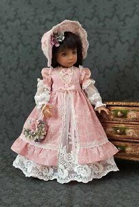 "Outfit for Effner Little Darling 13"" in- dress, sundress, bonnet, sleeves,"