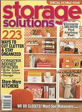 Storage Solutions magazine Organize Home office Kitchens Closet makeover tips