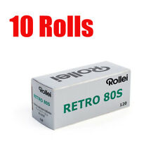10 Rolls Rollei Retro80s 120 Middle Format Black&White Film Fresh 2022
