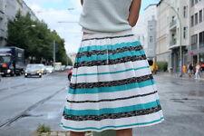 Falten Rock Plissee skirt weiß türkis schwarz 50er True VINTAGE 50´s Rockabilly