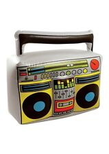 Inflatable Blow Up Boom Box Beach Garden Party70,80s Ghetto Blaster Music Player