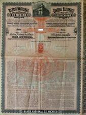 "TRES RARE MEXICO bound  ""umbrella"" BANCO NATIONAL DE MEXICO 1904 et 1906"