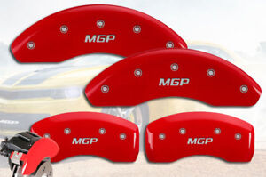 2012-2013 Volkswagen Golf R AWD Front & Rear Red MGP Brake Disc Caliper Covers