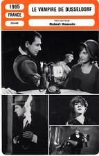 FICHE CINEMA : LE VAMPIRE DE DUSSELDORF - Hossein,Pisier,Dutoit 1965
