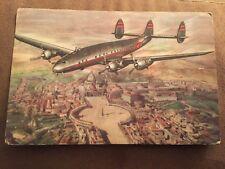 Lockheed Constellation TWA artist card  (larger size) TRI TAIL FIN-1948 artist c