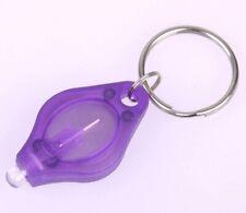 Black Light Key Chain LED UV Flash Mini Blacklight NEW