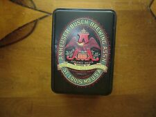 Anheuser Busch Brewing Co Tin and Two Decks of Playing Cards