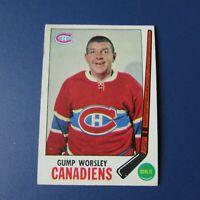LORNE GUMP WORSLEY   1969-70  TOPPS  # 1   Montreal Canadiens  1970   69-70  EX