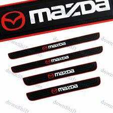 Black Rubber Car Door Scuff Sill Cover Panel Step Protector For Mazda NEW 4PCS