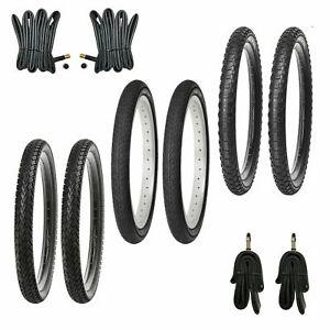 2x Fahrradreifen 12-14-16-18-20-24 Zoll Reifen Set   Schläuche auswählbar AV DV