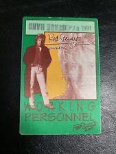 ROD STEWART VAGABOND HEART TOUR BACKSTAGE PASS - POPLAR CREEK CHICAGO 9/20/1991