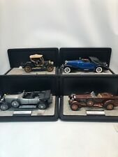 Franklin Mint Precision Models Lot Of 4 Suiza Tulipwood Rolls Silver Ghost