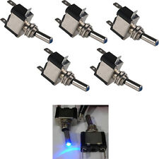 Lot5 12V 20A AMP Blue LED Light Rocker Toggle Switch SPST ON/OFF Car Motor Sales