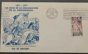 """A) 1971 MEXICO, """"GRAL. VICENTE GUERRERO, ANNIVERSARY OF INDEPENDENCE, FDC, WITH"""