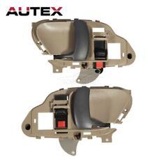 2x Beige Interior Inner Front Rear Door Handle LH RH For 95-99 CHEVY C1500 C2500