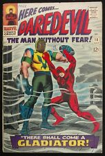 DAREDEVIL 1966 #18 FN 1ST APP.GLADIATOR+ AD FOR SPIDEY 39 CLASSIC COVER!