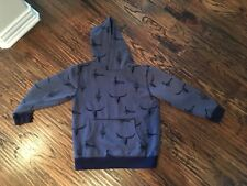 GYMBOREE Blue Bulls Skull Hoodie Sweatshirt Boys Small 7-8M