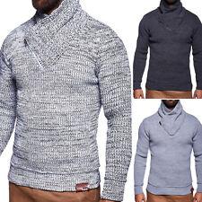 d124bbd4b498 Herren Pullover mit Schalkragen Strickpullover Strickjacke Sweatshirt NEU