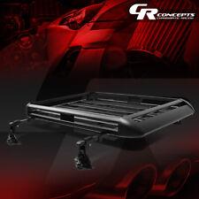 """50""""X 38""""BILLET ROOF RACK VAN/SUV TOP CARGO LUGGAGE CARRIER BASKET+CROSSBAR BLACK"""