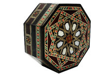 SYRIAN MOSAIC BOX w wood & mother of pearl pieces