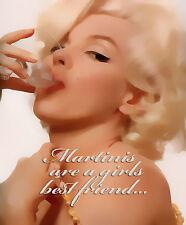 Marilyn Monroe Martinis 16 x 20 Pop Art canvas   #3113