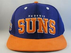 Phoenix Suns NBA Retro Snapback Cap Hat Purple Orange