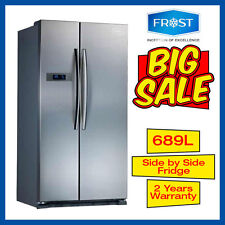 Frost Side by Side Fridge 689L Stainless not Samsung LG Westinghouse FisherPaykl