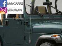 Metra Side Mount Telescoping Antenna Kit for Jeep CJ7 YJ Wrangler or Universal