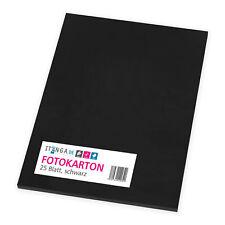 itenga Fotokarton 25 Blatt A4 300 G/qm - Tonpapier Tonkarton schwarz