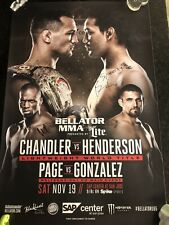 Bellator Henderson Vs Chandler Signed Poster MMA UFC Pride FC