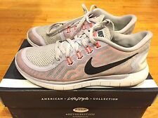 2014 Womens Nike Free 5.0 Titanium Fuchsia Flash Hot Lava Size 8.5 Used Rare
