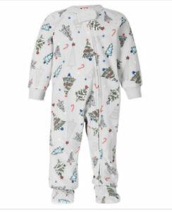 Family Pajamas Matching Kids Festive Trees cozy one-piece pajama 24Months (2339)