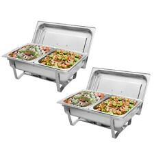 2 Pack 9L Buffet Catering Stainless Steel Chafer Chafing Dish 1/2 Size Chaf Us