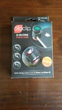 Olloclip Ollo Clip iPhone 4/4S Camera Lens 3-IN-ONE Photo Lens System Black/Red