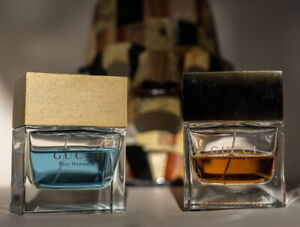 Lot 2x vintage GUCCI I and GUCII II Pour Homme 3.4 oz/100 ML see pics!