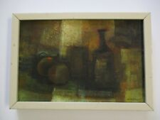 VINTAGE ABSTRACT EXPRESSIONISM PAINTING MODERNISM SURREAL LISTED TOLEDO RARE